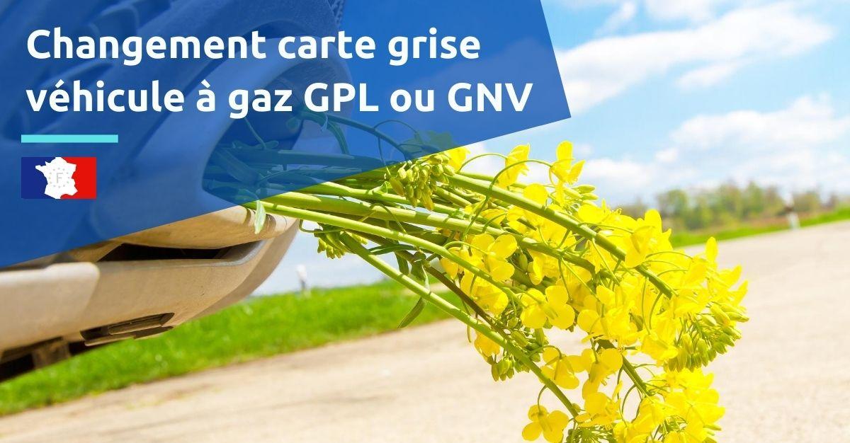 changement carte grise voiture gaz gpl ou gnv