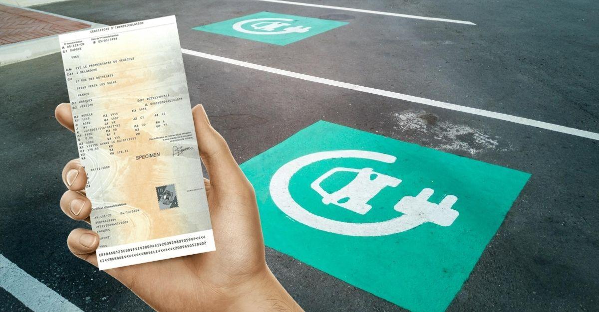Changement carte grise véhicule propre