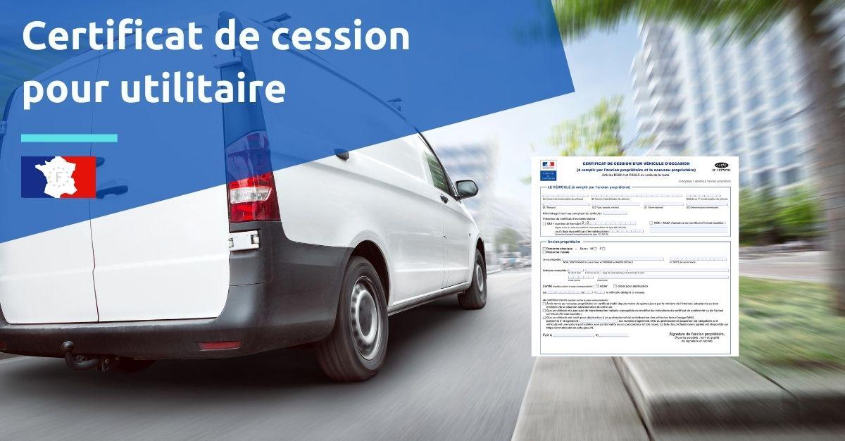 certificat de cession pour utilitaire