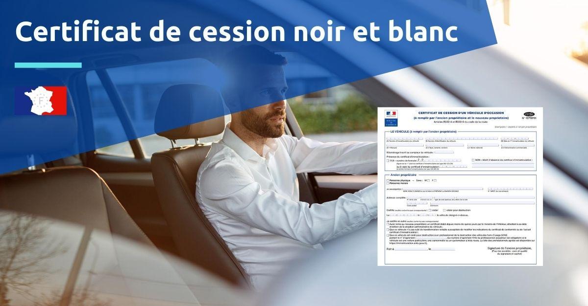certificat de cession noir et blanc