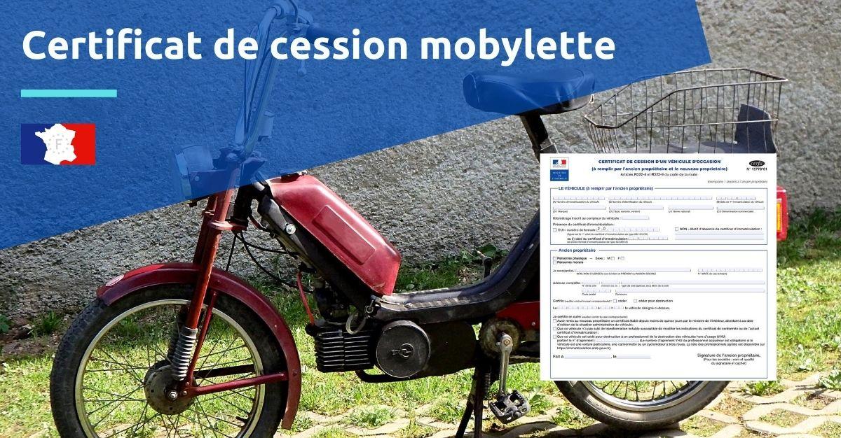 certificat de cession mobylette