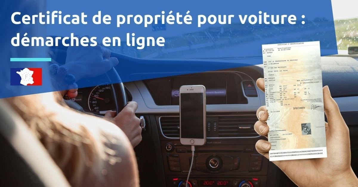 certificat de propriété pour voiture