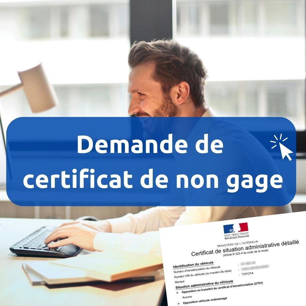 Certificat De Non Gage Indisponible Introuvable