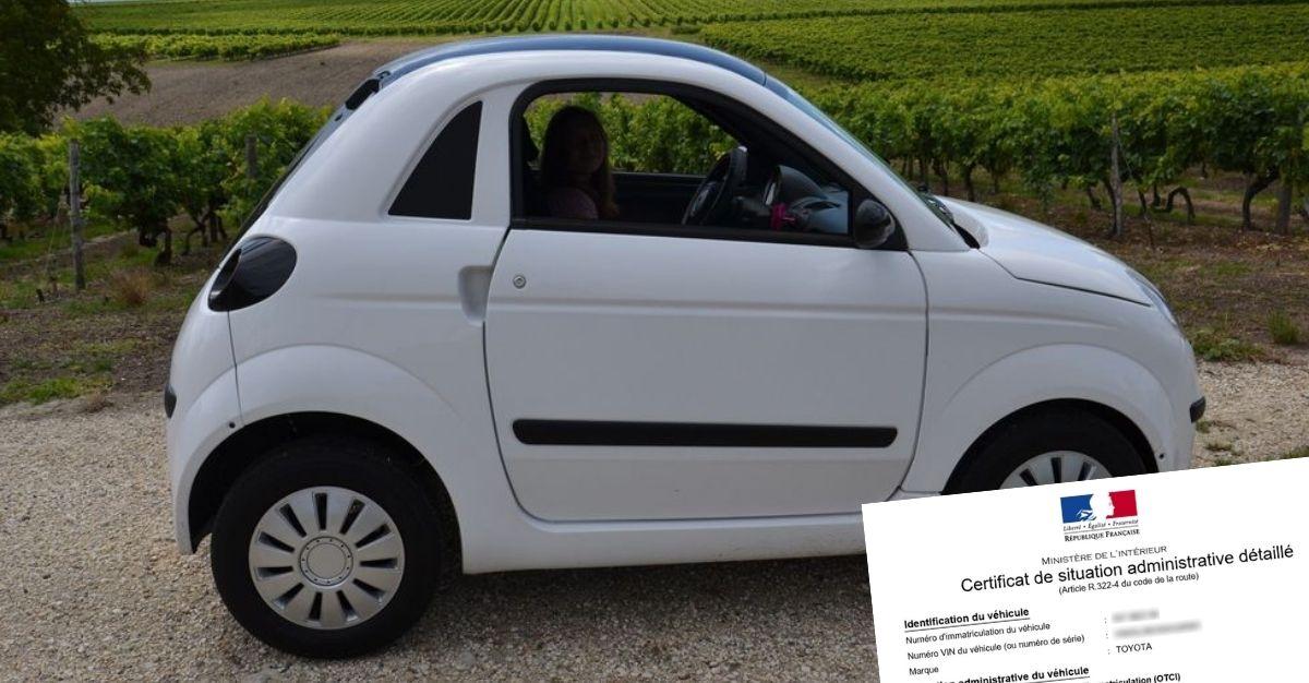 Certificat de non gage pour voiture sans permis
