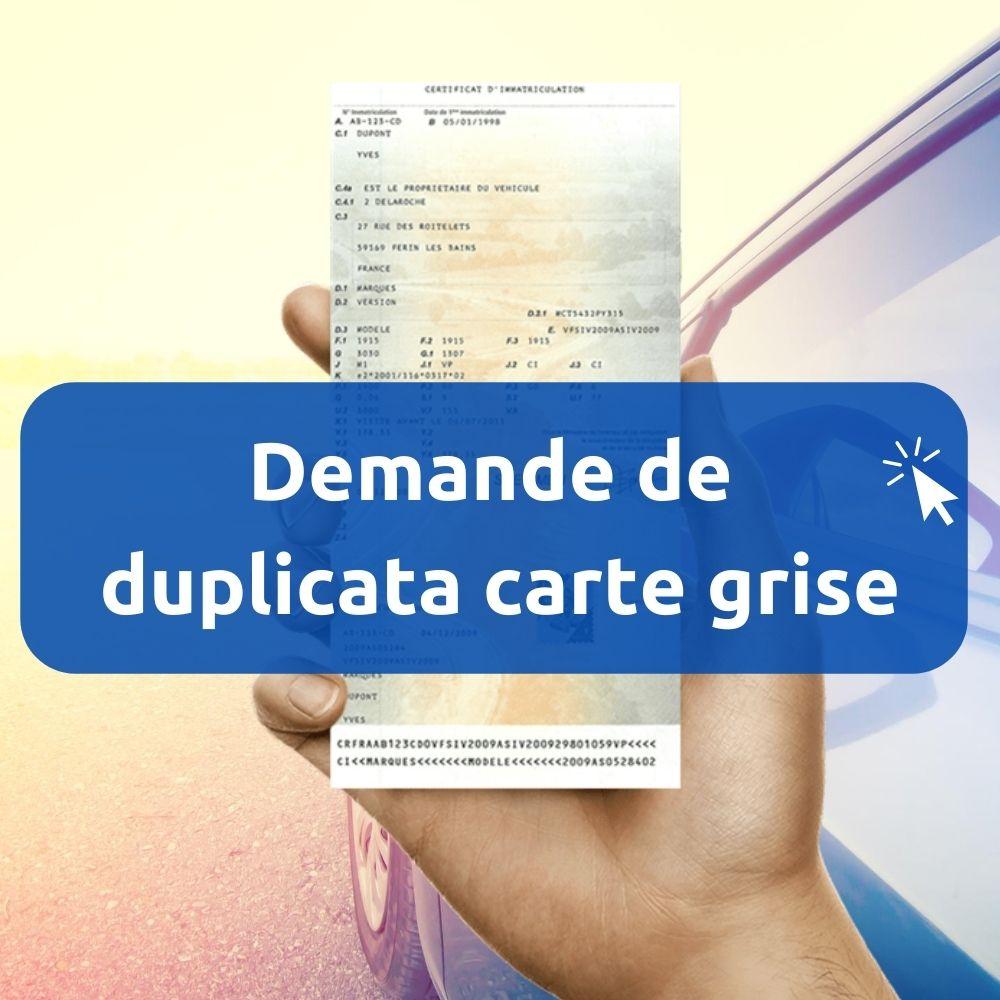 Perte Carte Grise Apres Achat Avant Changement Immatriculation
