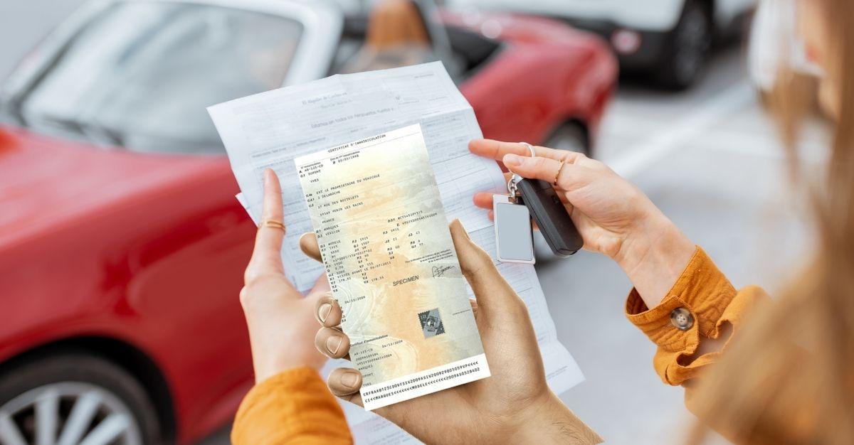 Perte carte grise voiture leasing / loa