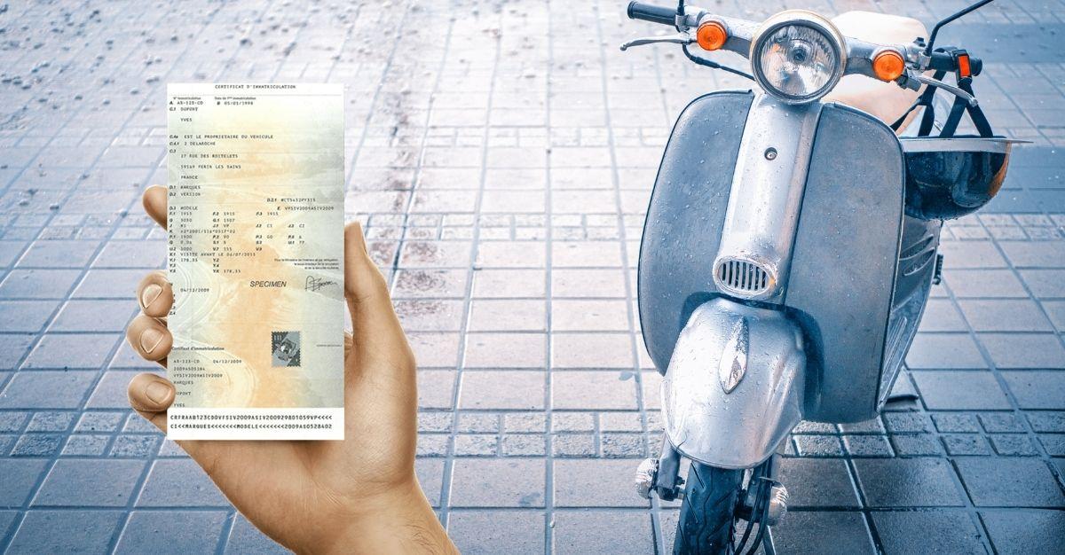 Perte carte grise cyclomoteur 50 cc