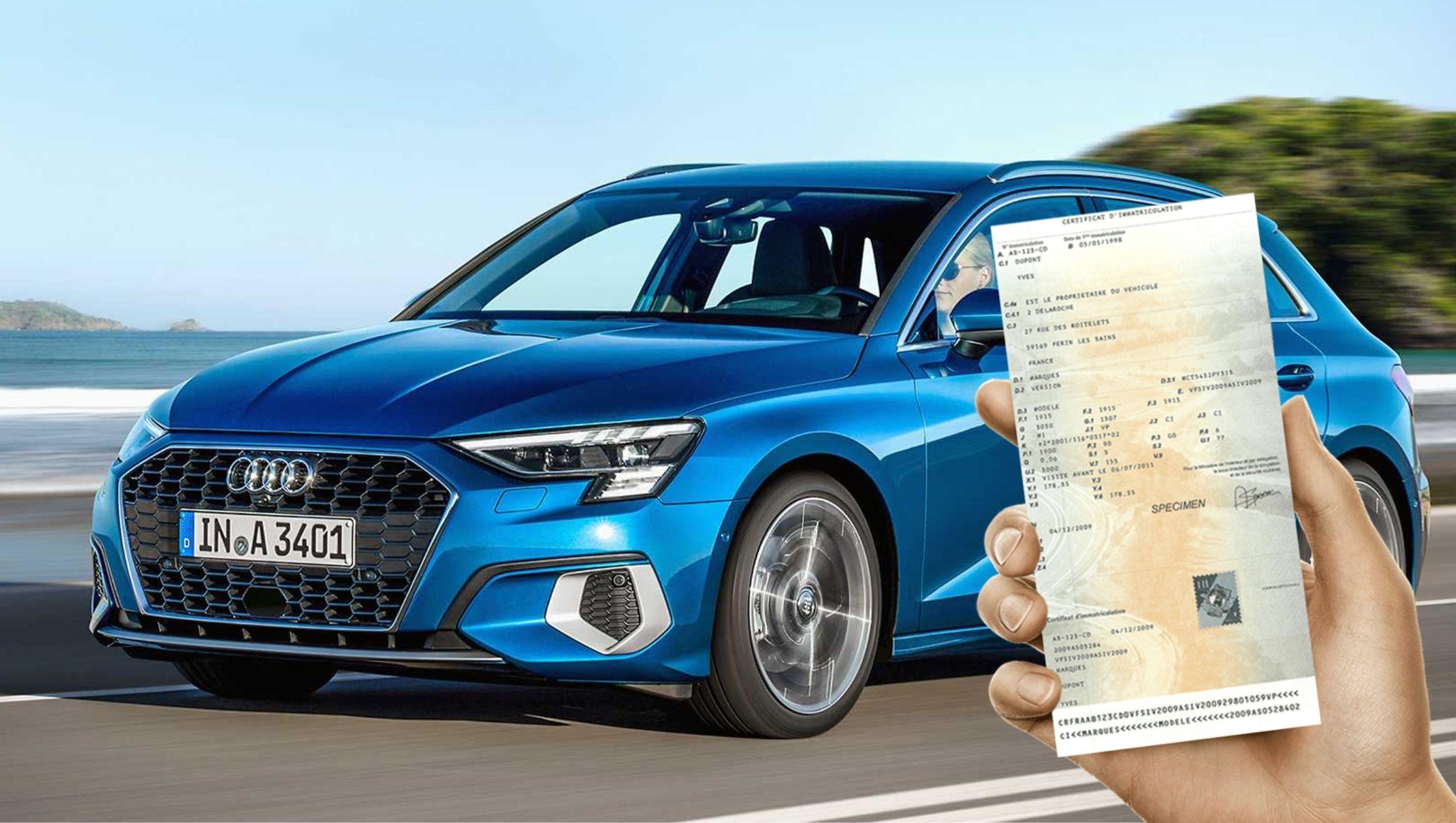 Carte grise Audi A3