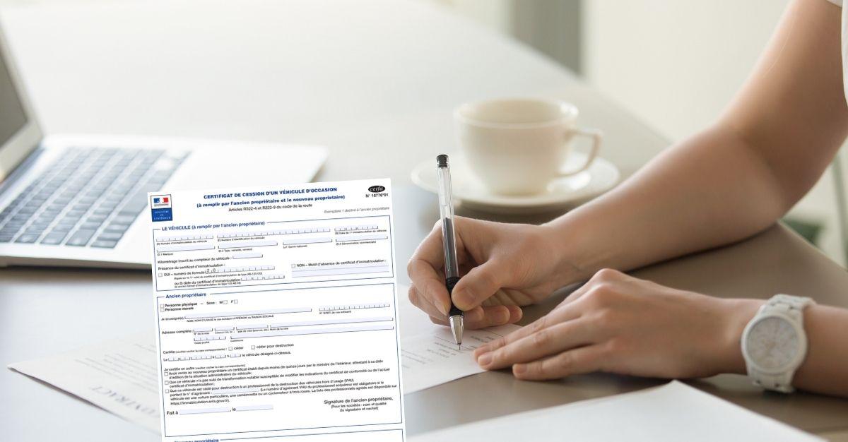Certificat de cession non signé