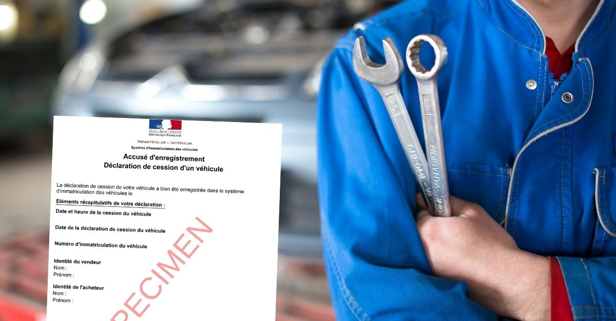 Déclaration / certificat de cession garage / professionnel de l'automobile