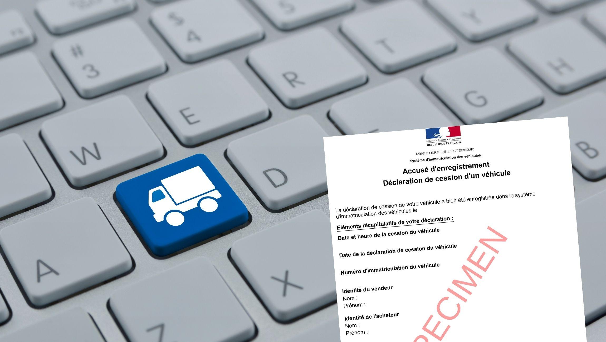 Déclaration de cession utilitaire / certificat de cession