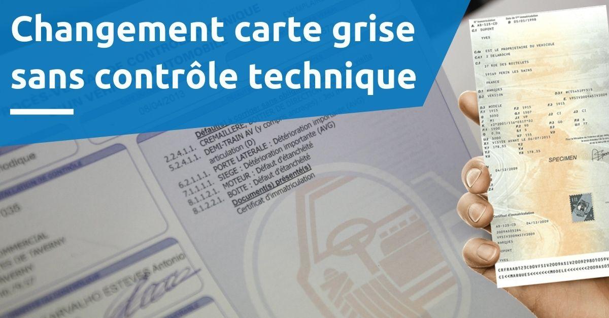 certificat d'immatriculation sans contrôle technique comment faire