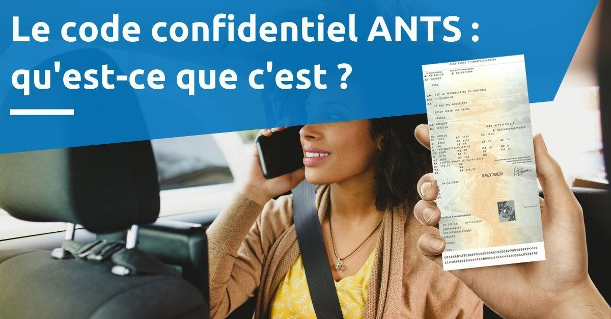 code confidentiel ANTS
