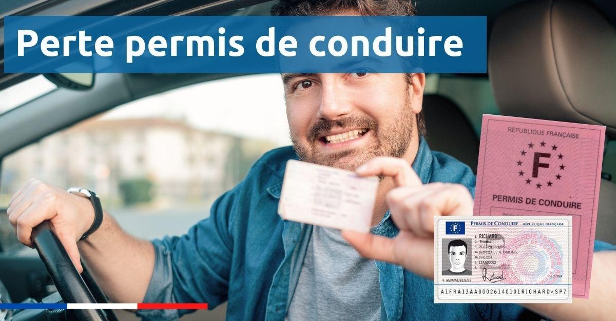 Perte permis de conduire