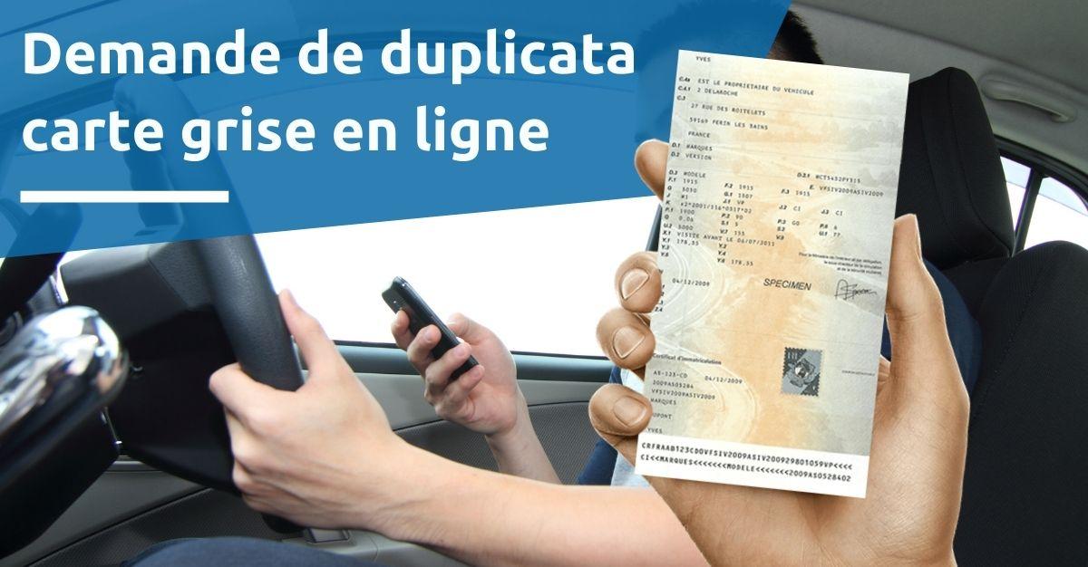 Demande duplicata certificat d'immatriculation en ligne
