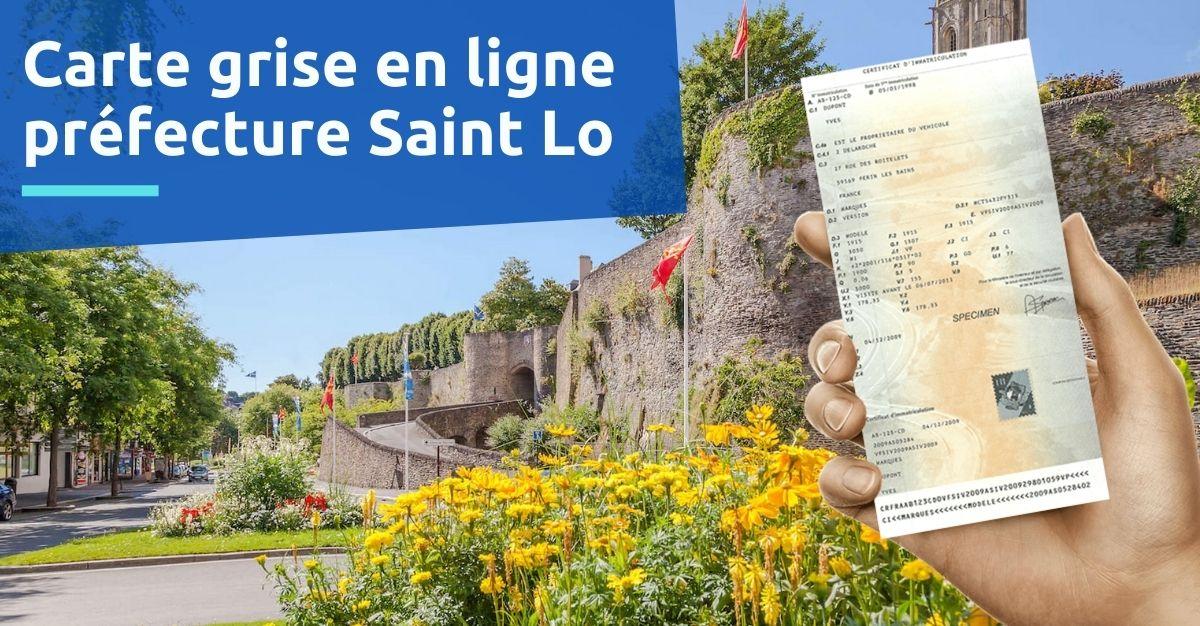 Carte grise prefecture saint lo