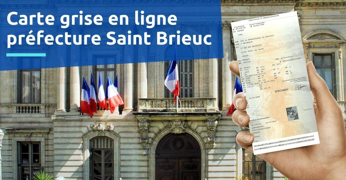 Préfecture saint Brieuc carte grise