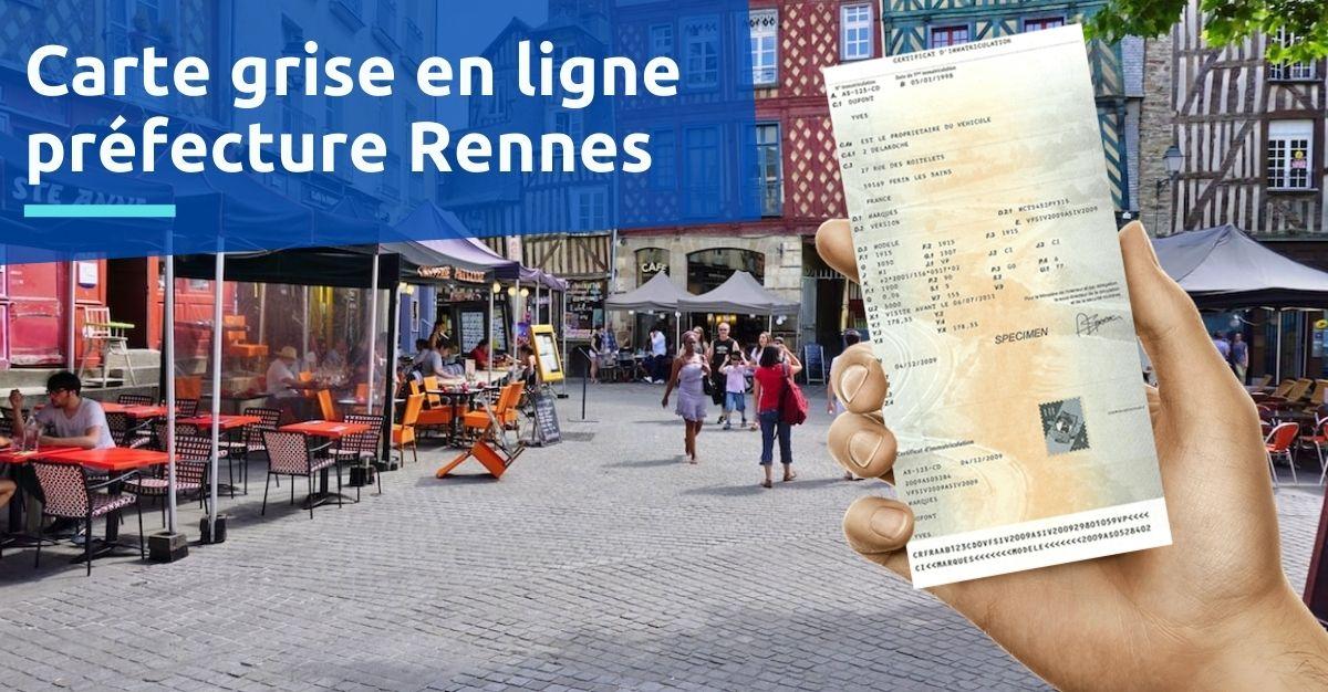 Carte grise préfecture de Rennes