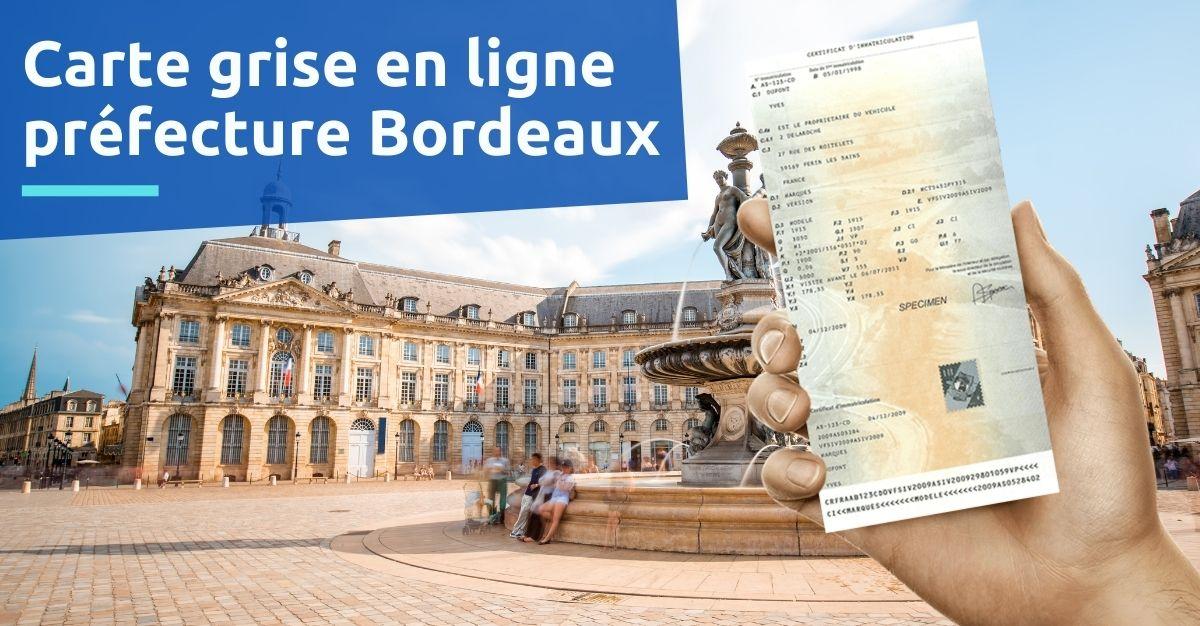 Carte grise préfecture Bordeaux