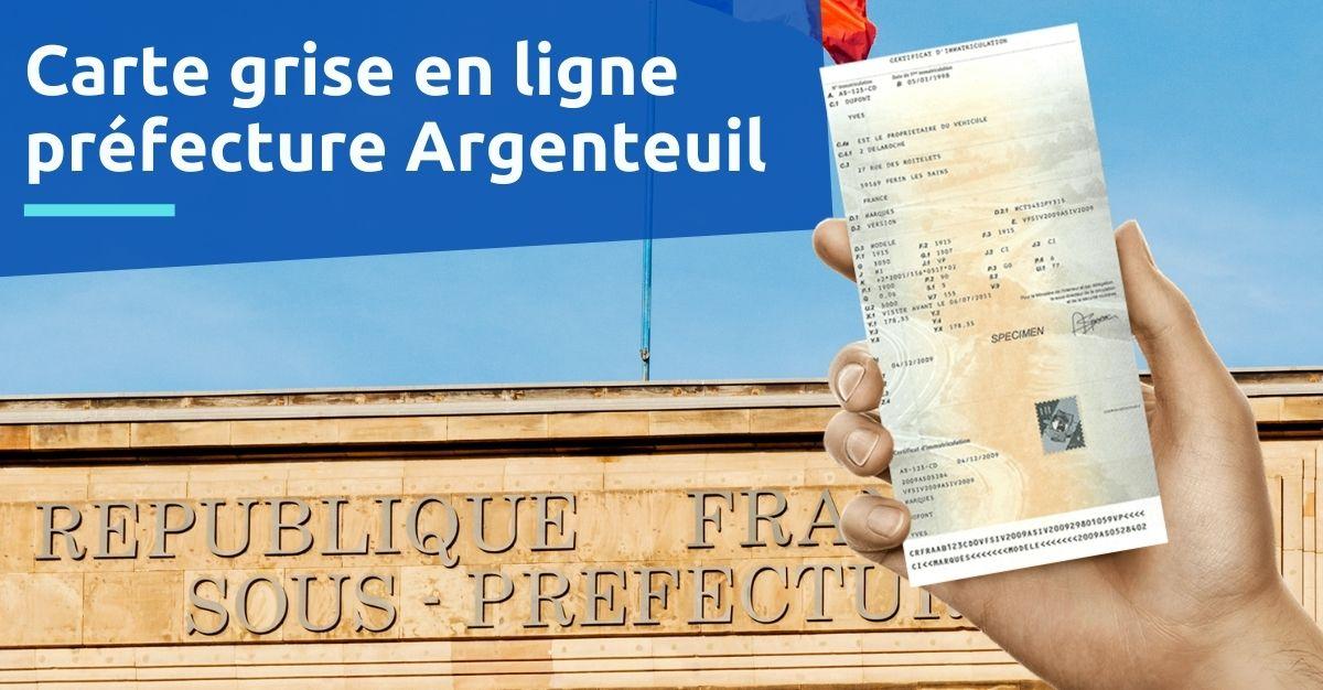Carte grise préfecture Argenteuil