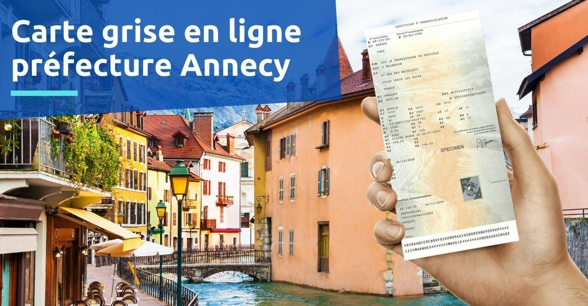 Carte grise préfecture Annecy