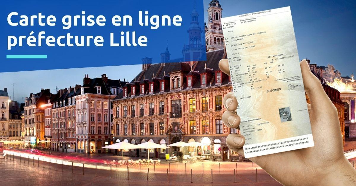 Carte grise à la préfecture de Lille