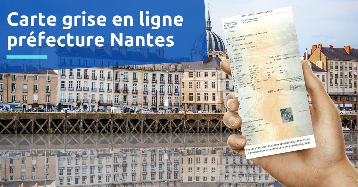 Carte grise préfecture de Nantes