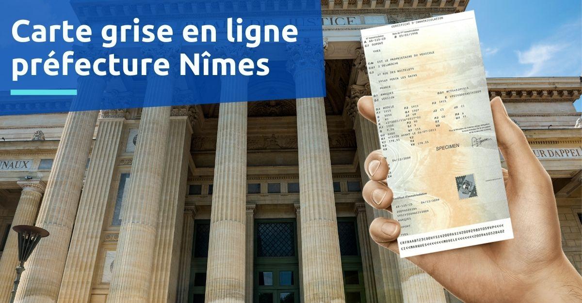 Préfecture Nîmes carte grise