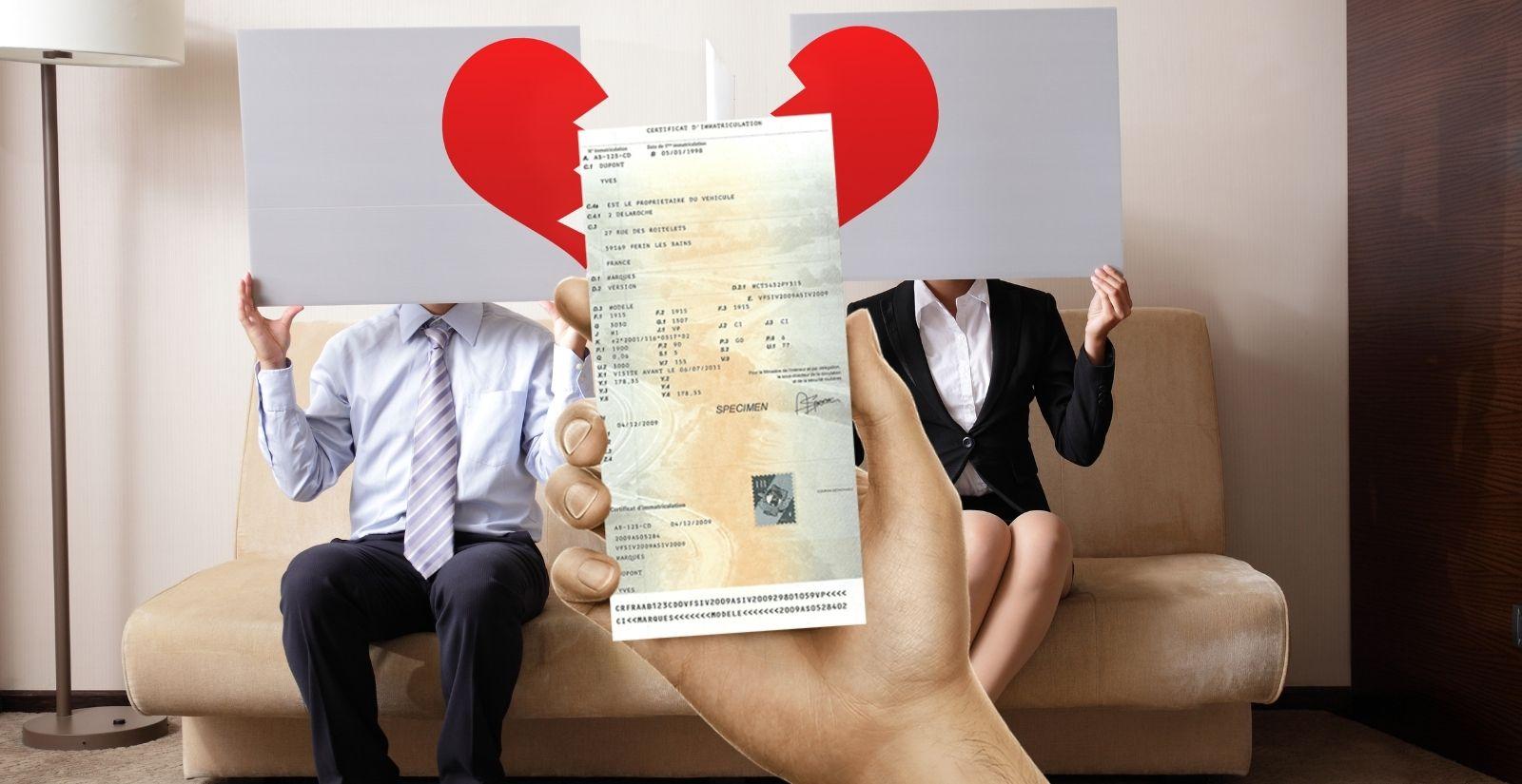 Changement carte grise en cas de divorce