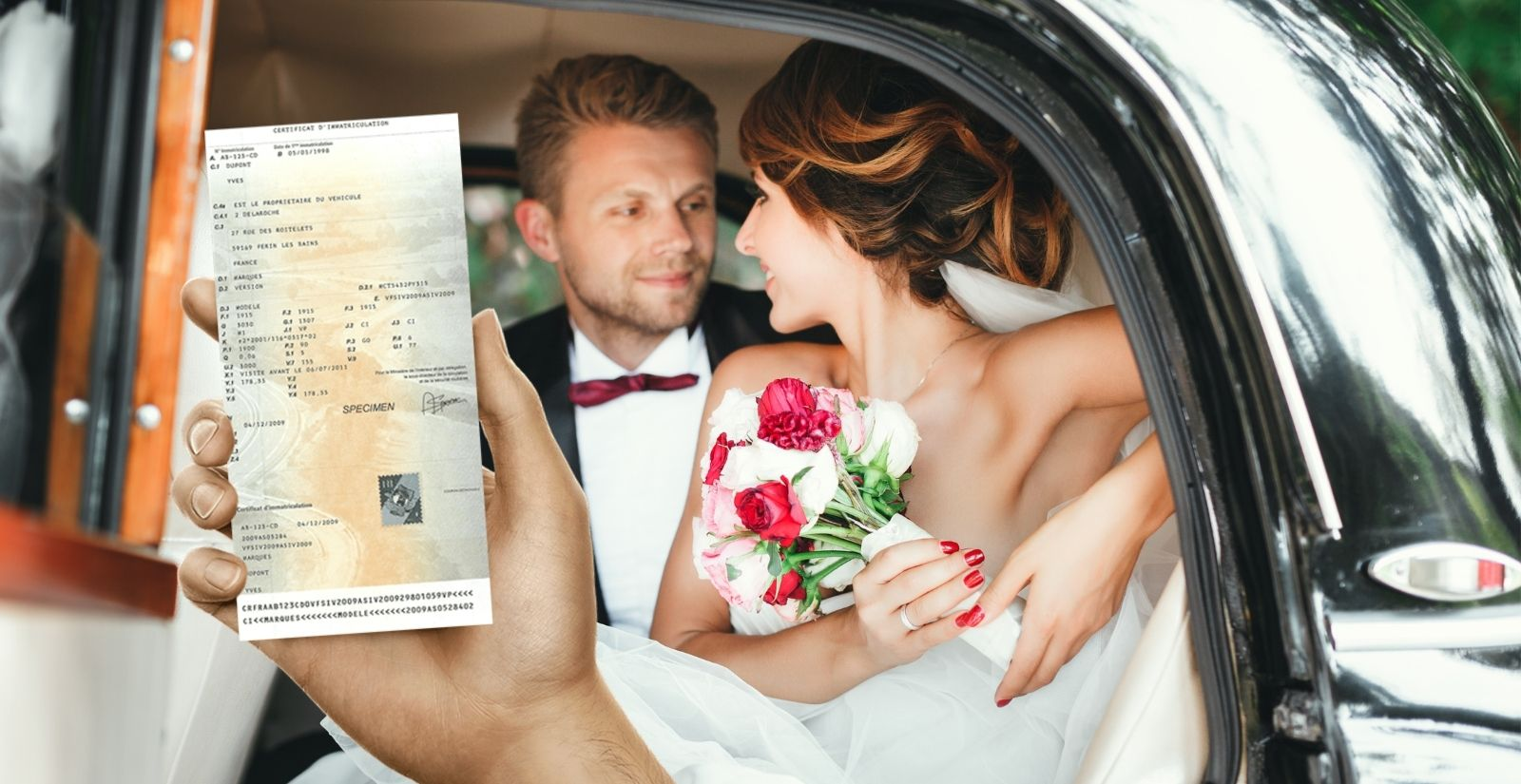 Changement titulaire / nom carte grise suite à un mariage