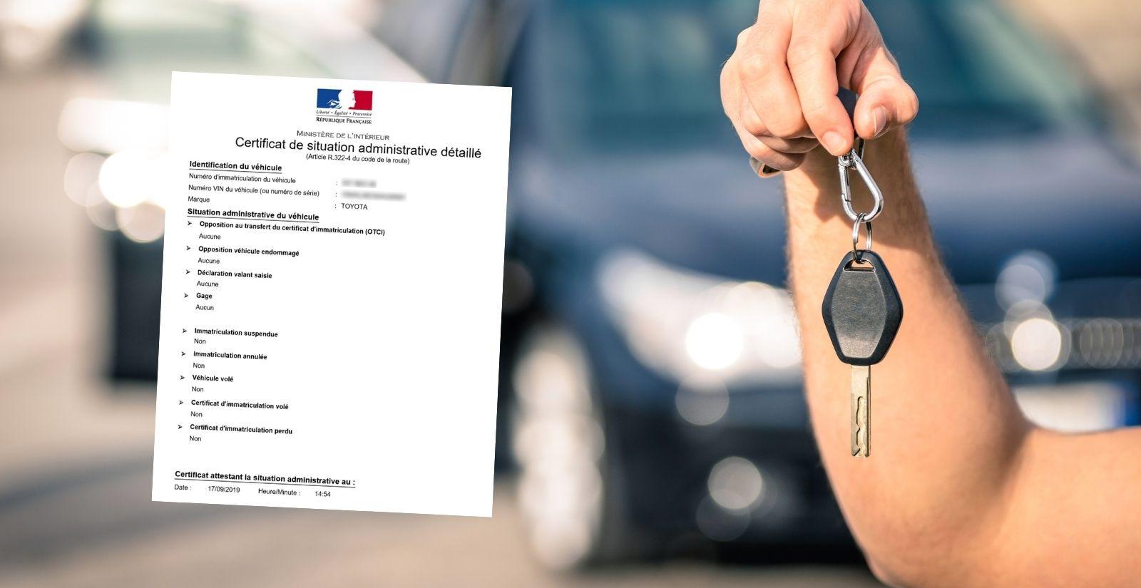 Certificat de non gage leasing / LOA