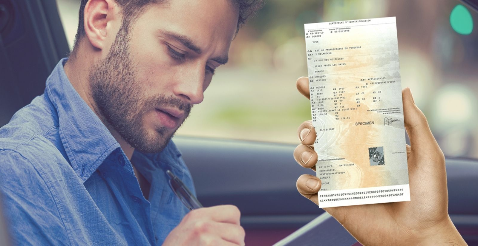 Perte carte grise et acte de vente / certificat d'immatriculation