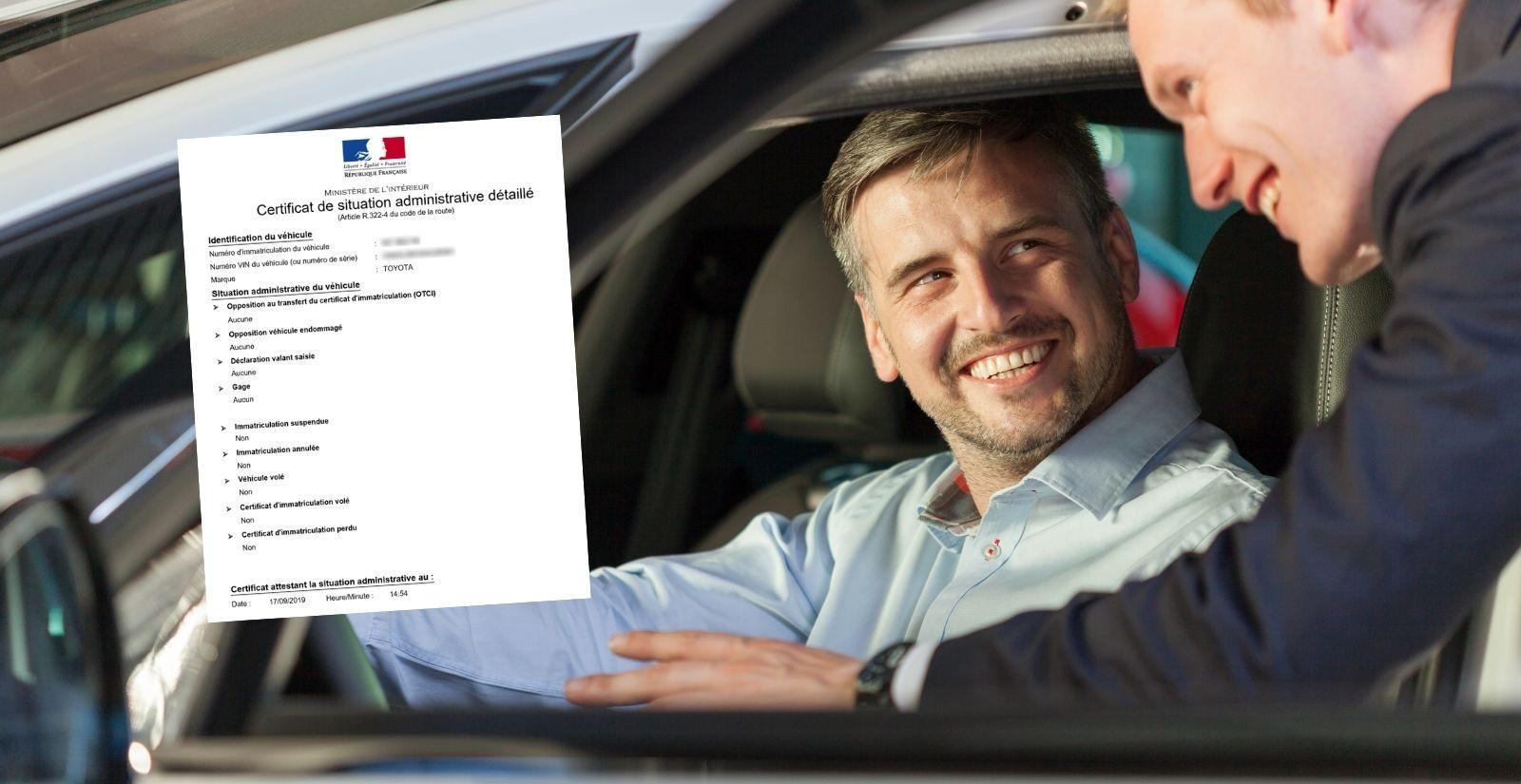 Certificat de non gage de moins de 15 jours