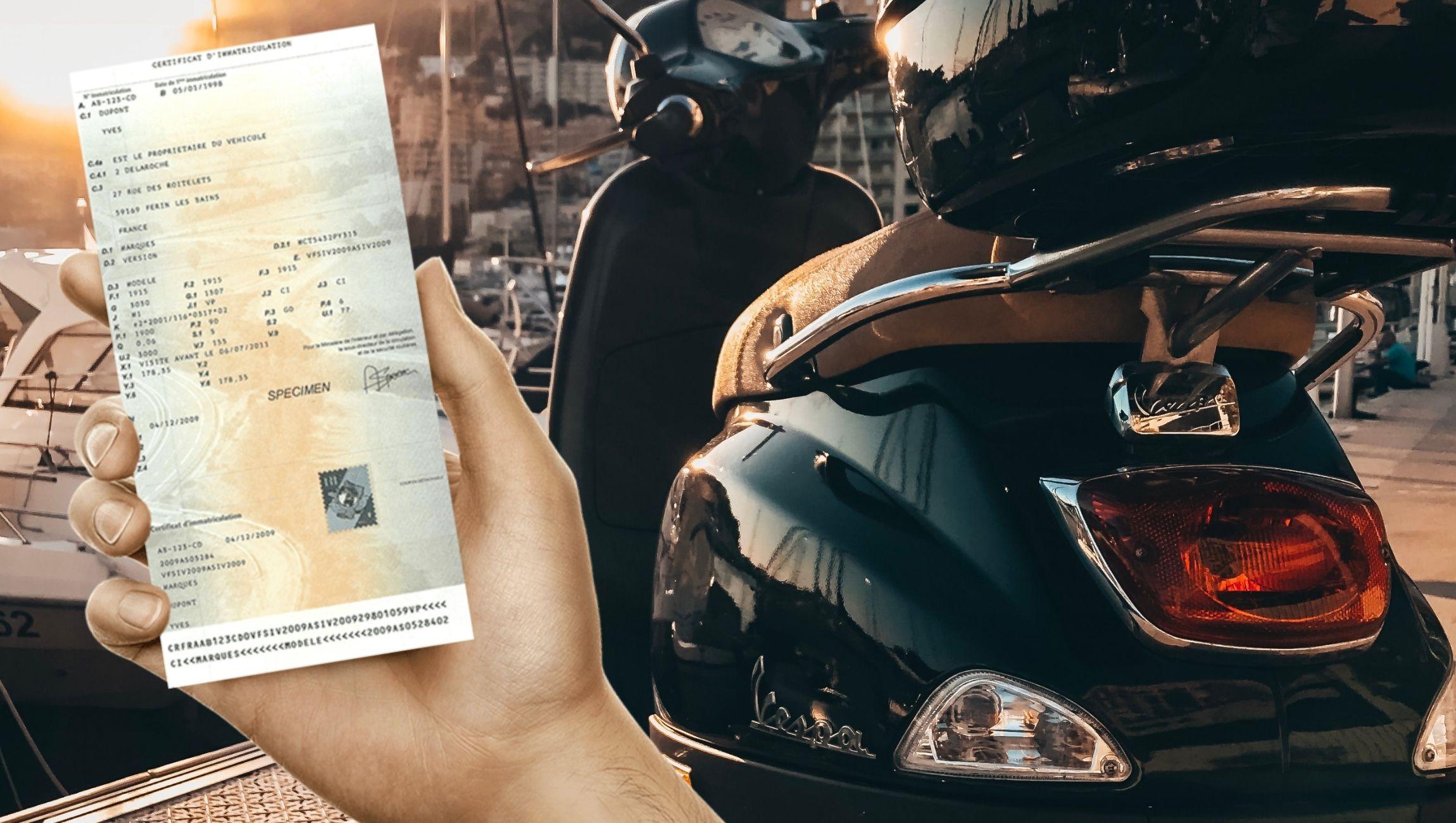 Comment immatriculer un scooter sans carte grise ?