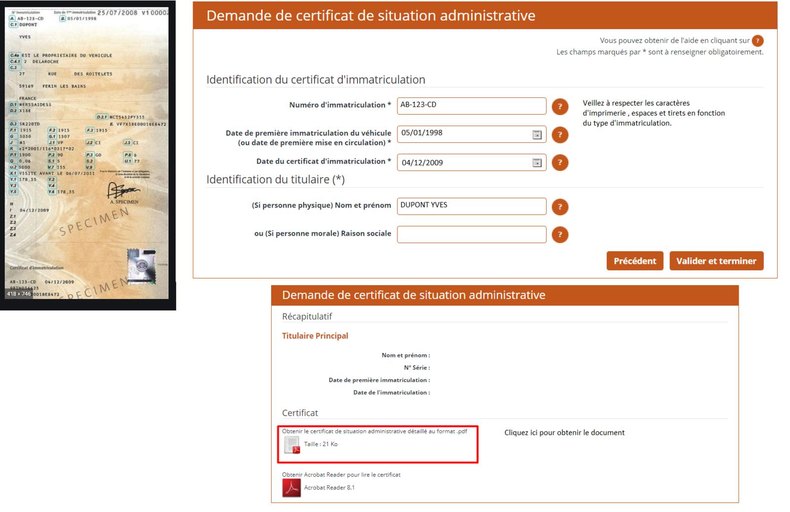 Comment remplir le formulaire de demande de certificat de situation administrative ?