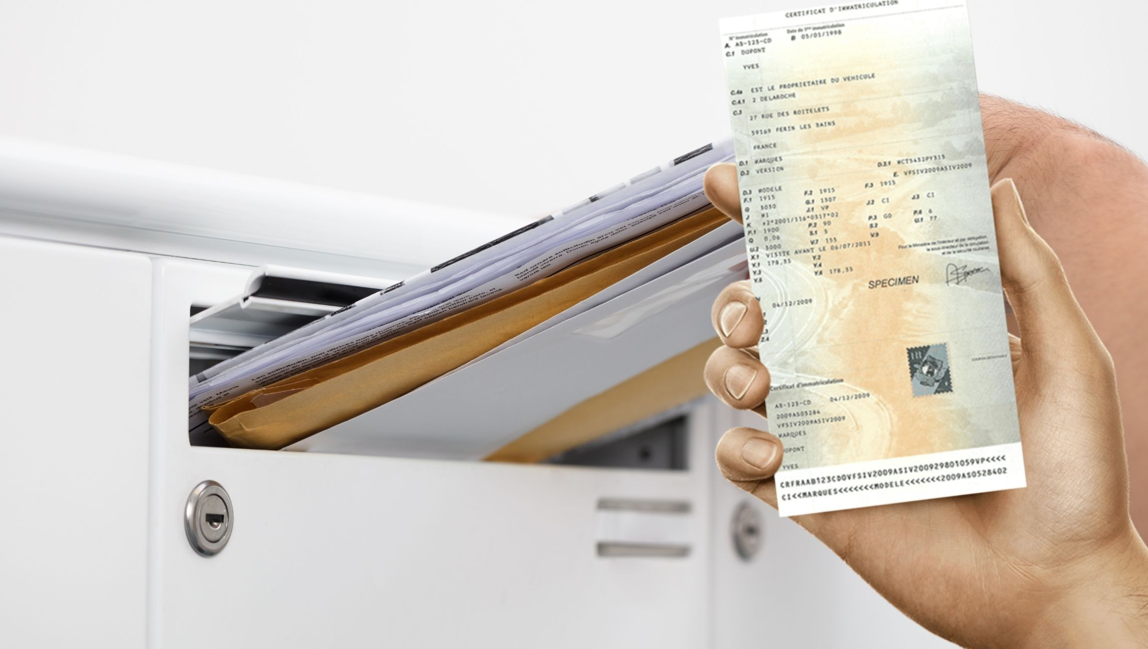 Faire sa carte grise par courrier