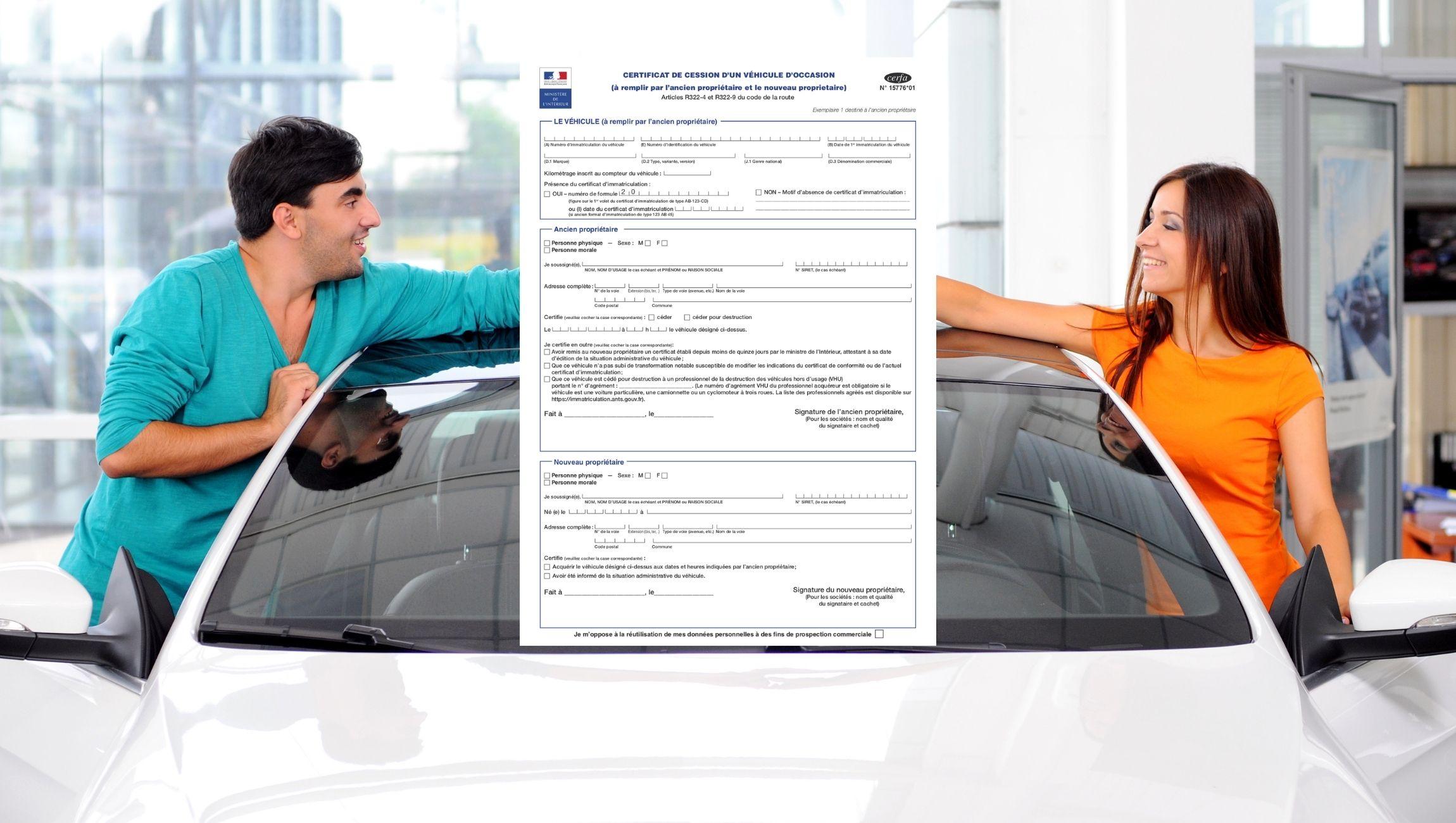 Certificat de cession véhicule Cerfa n 15776