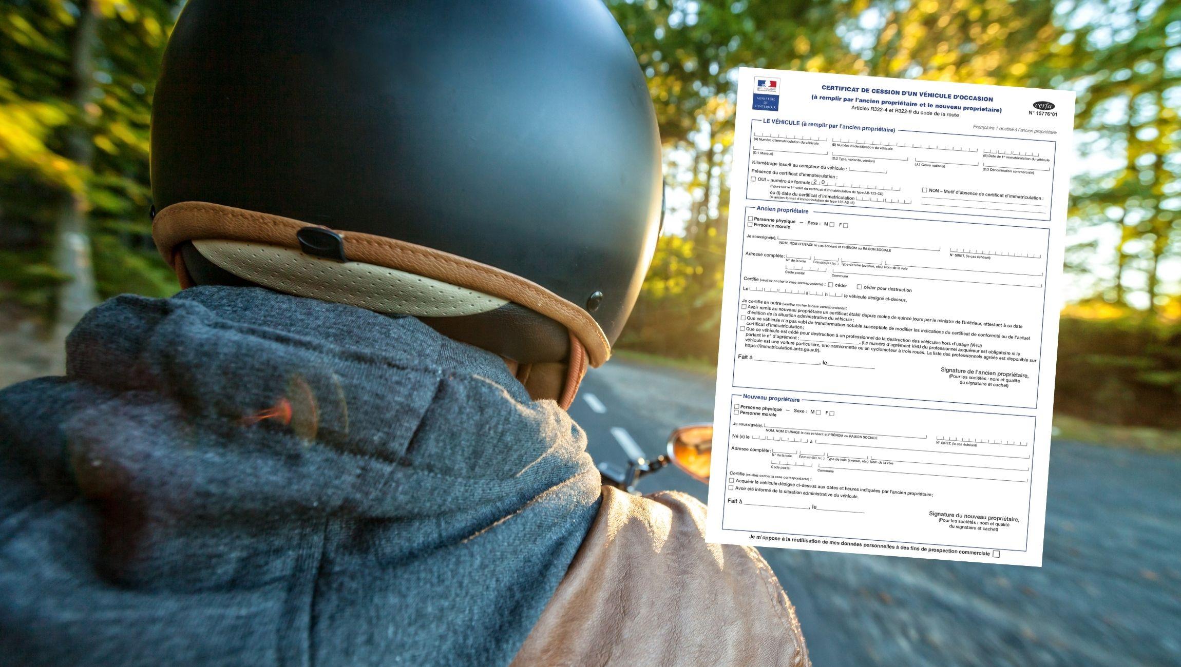 Certificat de cession moto 125