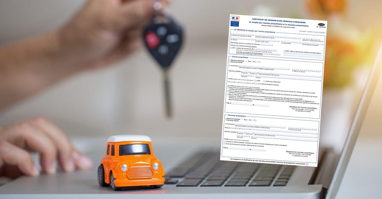 Vendre sa voiture : certificat de cession