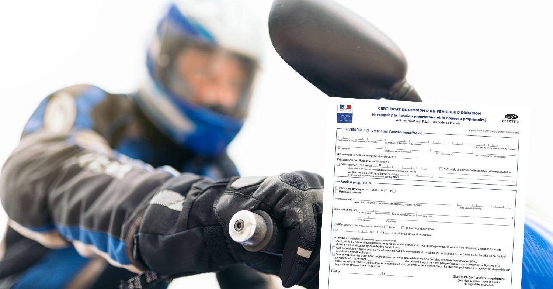 Vendre sa moto certificat de cession