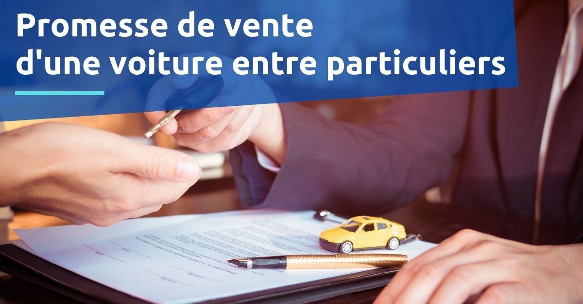 promesse de vente d'une voiture entre particuliers