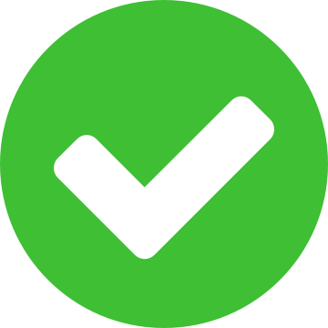 Icon of a green checkmark