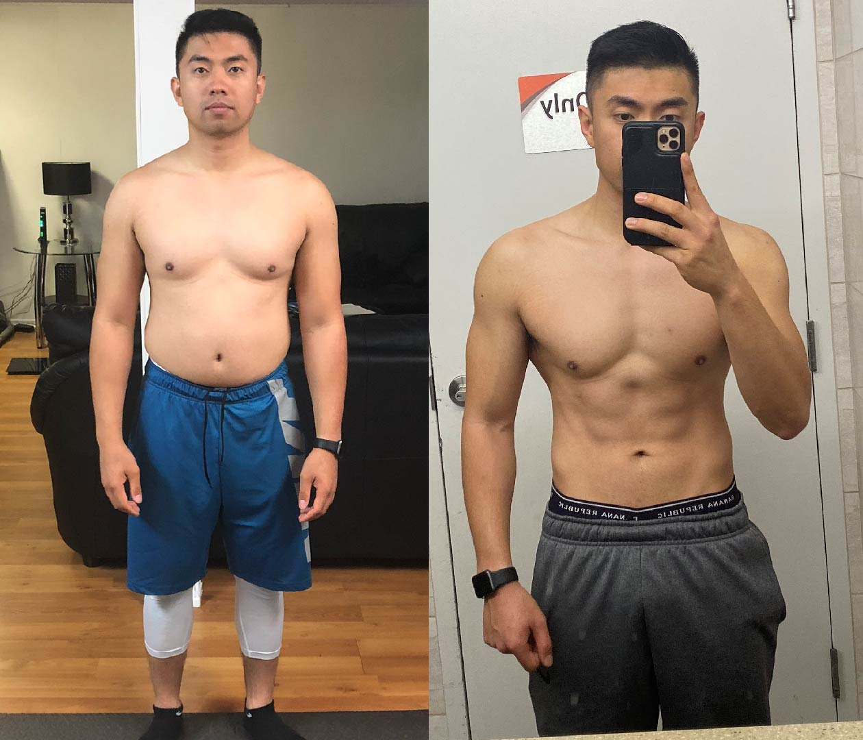gfit client russel dela cruz before and after picture