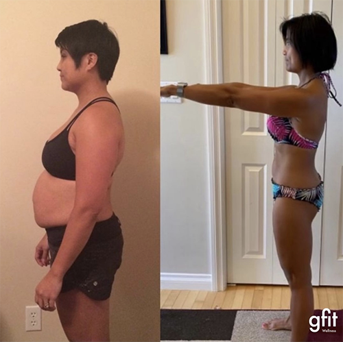 gfit client cheryl hirst before and after photo