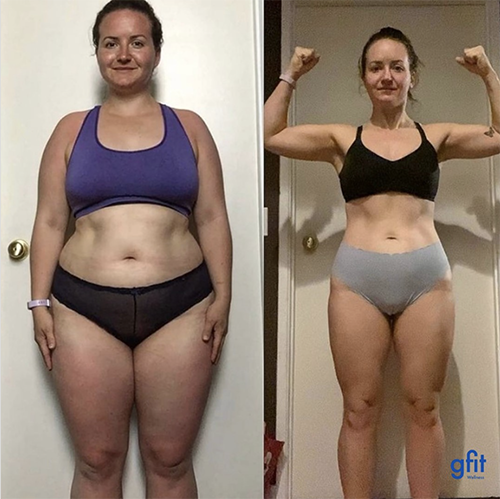 gfit client brokee rabu before and after photo