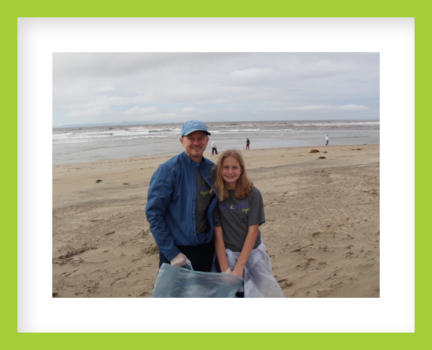 norm steeg and julia beach clean up