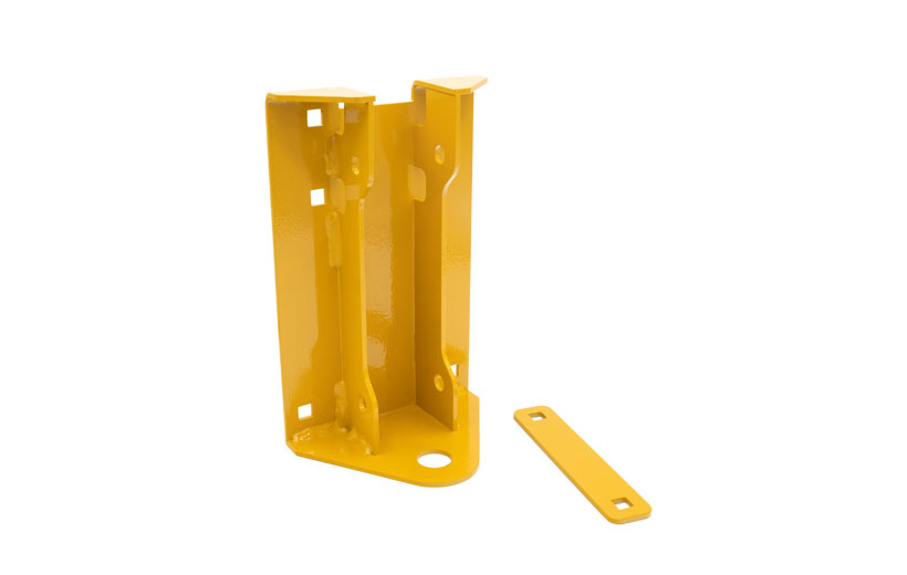 A yellow hitch on white background