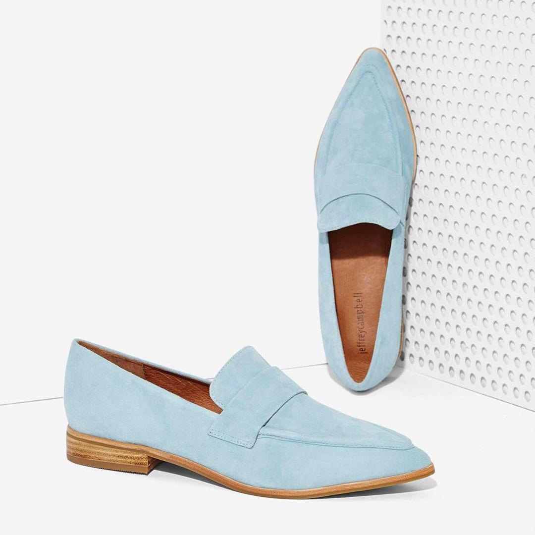 Blue Slip-ons