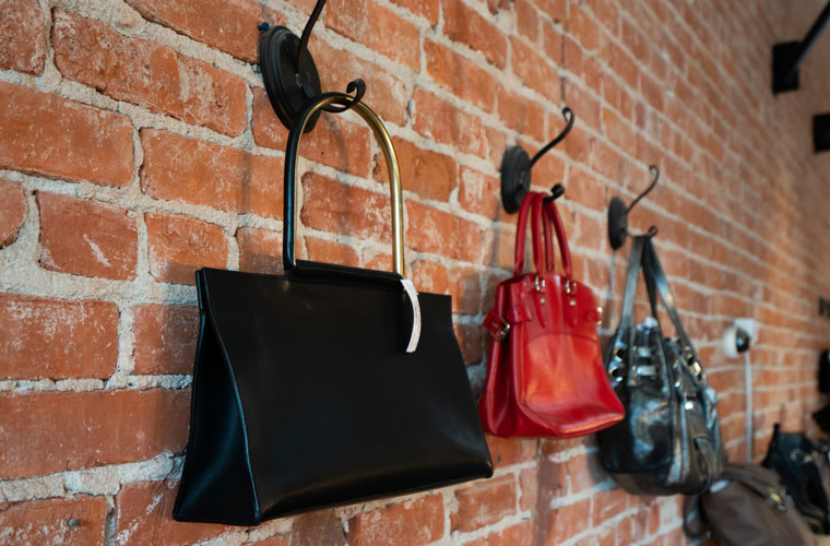 Purses on the Wall
