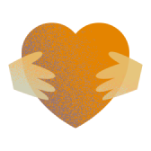 A heart with hands